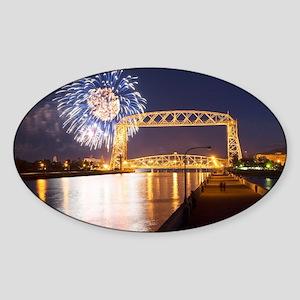 lift bridge Sticker (Oval)