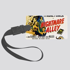 14x10_nightmare-alley Large Luggage Tag