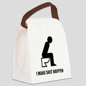 I-MAKE-SHIT-HAPPEN-WHITE Canvas Lunch Bag