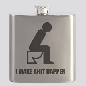 I-MAKE-SHIT-HAPPEN-WHITE Flask