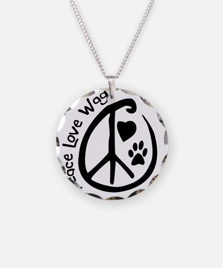 Peace_love_wag_nokow Necklace Circle Charm