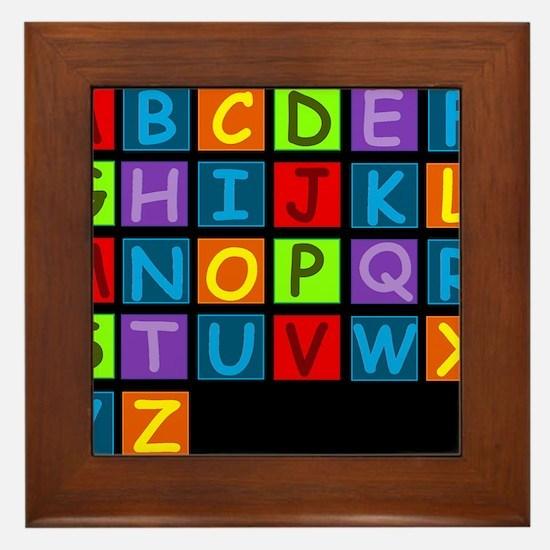 ABC RAINBOWDBG Framed Tile