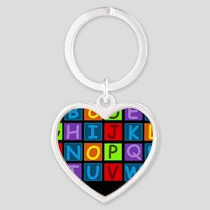ABC RAINBOWDBG Heart Keychain