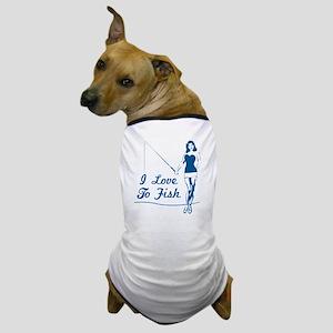 I Love To Fish Dog T-Shirt
