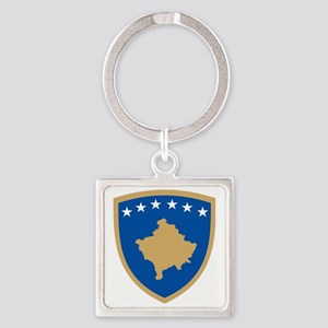 Coat of arms of Kosovo Square Keychain