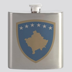 Coat of arms of Kosovo Flask