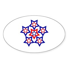 Star Flower Oval Decal
