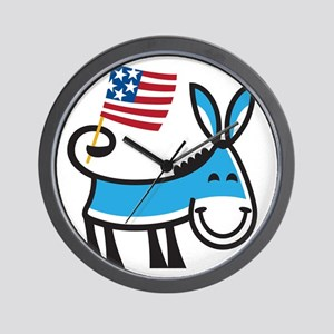 Democrat Donkey Wall Clock