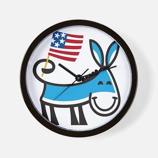 Democrat Donkey Wall Clock