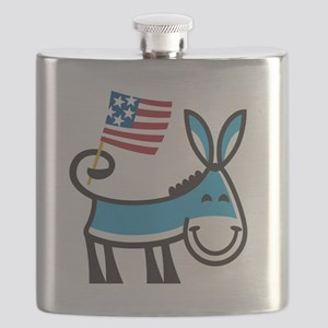 Democrat Donkey Flask