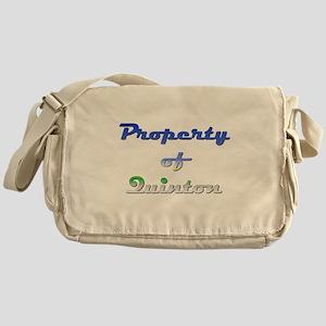 Property Of Quinton Male Messenger Bag