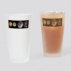 GalileanMoonsOfJupiter-whiteLetters Drinking Glass