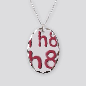 i hate hate 12-16 Necklace Oval Charm