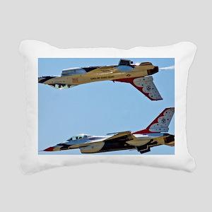 (15) Thunderbirds 5 and  Rectangular Canvas Pillow
