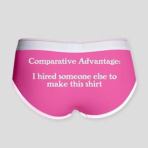 comparative-advantage_bg-dark Women's Boy Brief