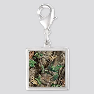 camo-swatch-hardwoods-green Silver Square Charm