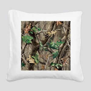 camo-swatch-hardwoods-green Square Canvas Pillow