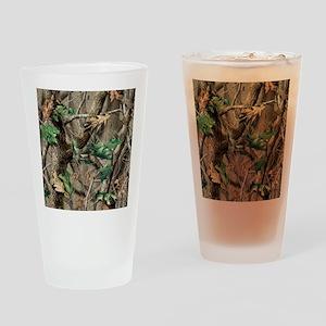 camo-swatch-hardwoods-green Drinking Glass