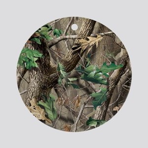 camo-swatch-hardwoods-green Round Ornament