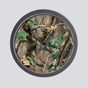 camo-swatch-hardwoods-green Wall Clock