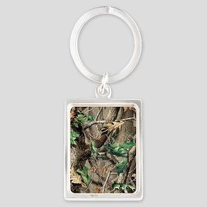camo-swatch-hardwoods-green Portrait Keychain
