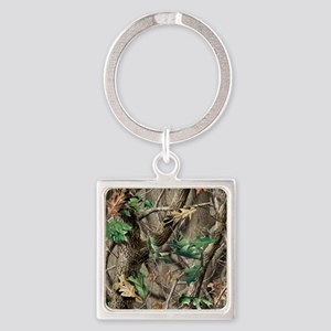 camo-swatch-hardwoods-green Square Keychain