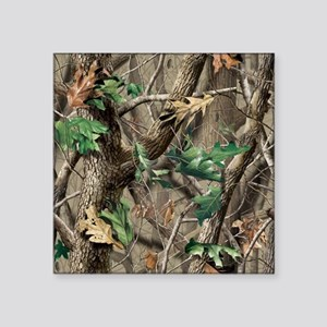 "camo-swatch-hardwoods-green Square Sticker 3"" x 3"""