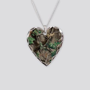 camo-swatch-hardwoods-green Necklace Heart Charm