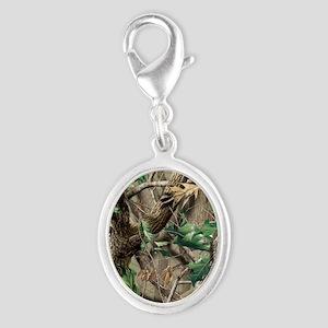 camo-swatch-hardwoods-green Silver Oval Charm