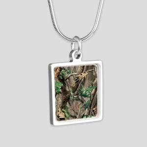 camo-swatch-hardwoods-gree Silver Square Necklace