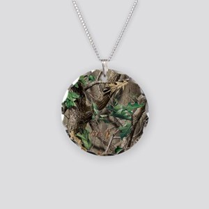camo-swatch-hardwoods-green Necklace Circle Charm