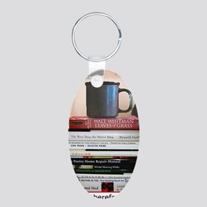 Reading Aluminum Oval Keychain