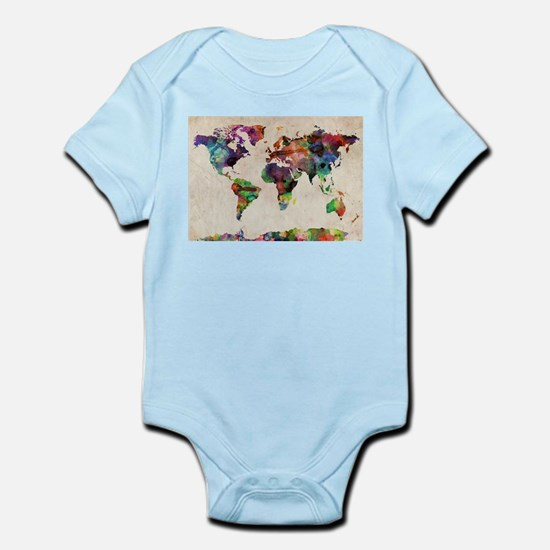 World Map Urban Watercolor 14x10.jpg Body Suit
