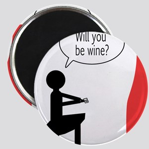 be_wine_front Magnet