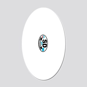SD-4-O-KC 20x12 Oval Wall Decal