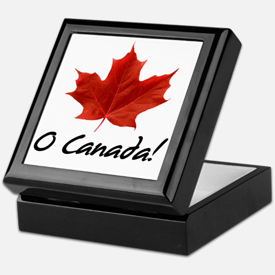O-Canada-MapleLeaf-blackLetters copy Keepsake Box