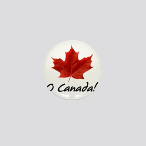 O-Canada-MapleLeaf-blackLetters copy Mini Button