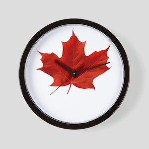 O-Canada-MapleLeaf-whiteLetters copy Wall Clock
