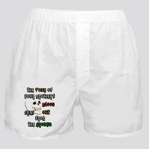 Blood Cries Out white poster Boxer Shorts