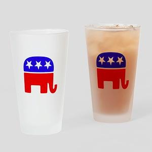 Lil Republican -dk Drinking Glass