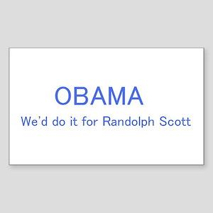 Obama Rectangle Sticker