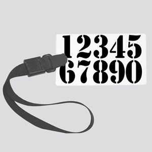 race-numbers-1-0 Large Luggage Tag