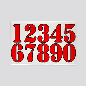 race-numbers-1-0red Rectangle Magnet