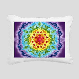 LaptopSkinsCrownMandala Rectangular Canvas Pillow