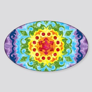 LaptopSkinsCrownMandala Sticker (Oval)