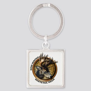 Whitetail Deer Hunting Square Keychain