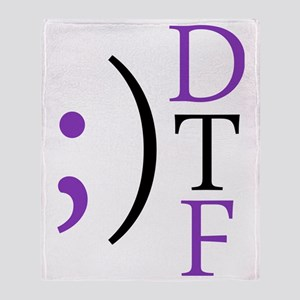 ;) DTF Throw Blanket