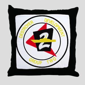 2nd COMDESDEVGRU US NAVY Destroyer De Throw Pillow