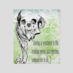 resentment Throw Blanket
