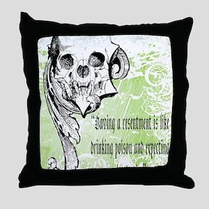 resentment Throw Pillow